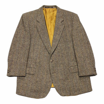 Vintage Alexandre of England Harris Tweed Wool Jacket Mens Size 45S