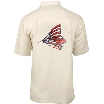 Men's American Redfish Embroidered Fishing Shirt