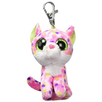 "Ty Beanie Boos Sophie the Cat Clip 3"" Keychain Plush Stuffed Animal Collectible Doll Toy"