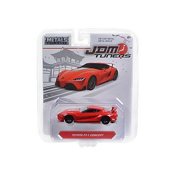 Toyota FT-1 Concept Red \JDM Tuners\ 1:64 Diecast Model Car by Jada