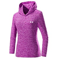 UNDER ARMOUR Women Men Lover Top Sweater Hoodie Red