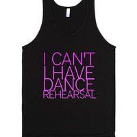 I Can't I Have Dance Practice-Unisex Black Tank