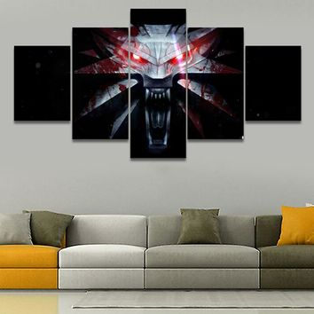 5 Pieces Game The Witcher 3 Wild Hunt Mark Wall Art Print Living Room Poster