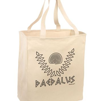 Labyrinth - Daedalus - Greek Mythology Large Grocery Tote Bag by TooLoud