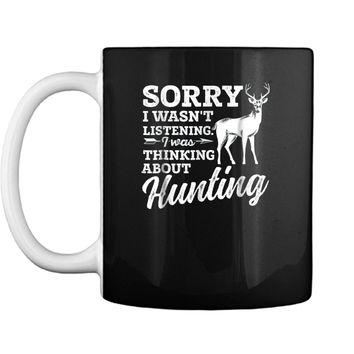 Mens Hunting  Deer Bow Gun Hunters Gift  Mug