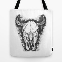 BULL Tote Bag by Morgan Ralston