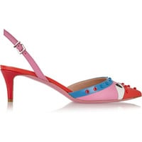 Fendi - Bag Bug embellished leather pumps