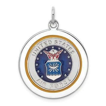 Sterling Silver US Air Force Disc