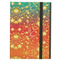 Golden Stars and Circles on A Gradient Background Case For iPad Air