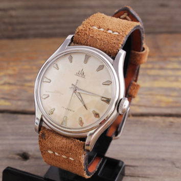 Vintage Orano watch stainless steel swiss watch mens watch