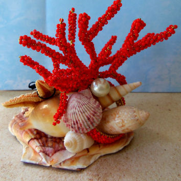 Cake Topper Bride and Groom Starfish- Beach Themed Wedding