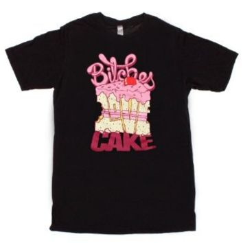 Borgore Bitches Love Cake Slim-Fit T-Shirt Size : Large