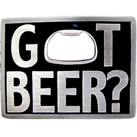 GOT BEER? BOTTLE OPENER Belt Buckle