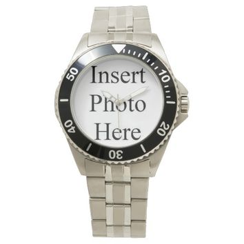 Create Your Own Men Stainless Steel Bracelet Watch