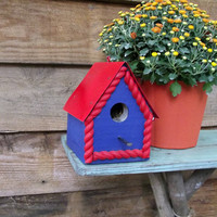 Red and Blue Birdie Cottage