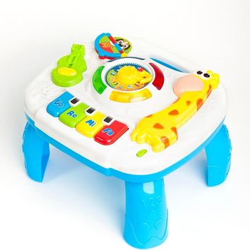 Musical Toys Baby 13-24 Months Educational Game Play Center Toy Music Activity Table Oyuncak Brinquedos Para Bebe