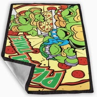 TMNT Turtles Ninja Pizza Blanket for Kids Blanket, Fleece Blanket Cute and Awesome Blanket for your bedding, Blanket fleece *