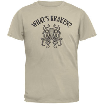 What's Kraken? Tan Adult T-Shirt