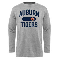 Auburn Tigers Straight Out Long Sleeve Thermal T-Shirt - Gray