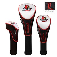 Team Effort Louisville Cardinals 3-pc. Head Cover Set (White/Black)