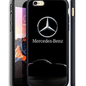 Luxury Mercedes Benz Logo Print On Hard Case For iPhone 6 6s Plus 7 8 Plus Cover