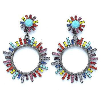 Everly Starbust Hoop Earrings