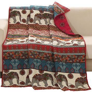 Barefoot Bungalow Kandula Desert Quilted Throw Blanket
