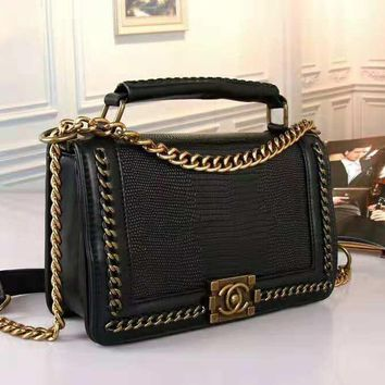 Fashion New Leather Women Chain Bag Women Shoulder Bag Black