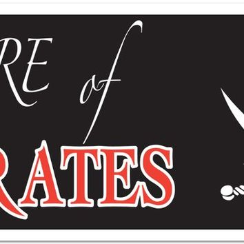 Beware of Pirates Sign Banner - All-Weather #13575 Case Pack 12