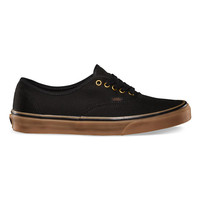 Vans Authentic Mens Shoes Black/Rubber  In Sizes