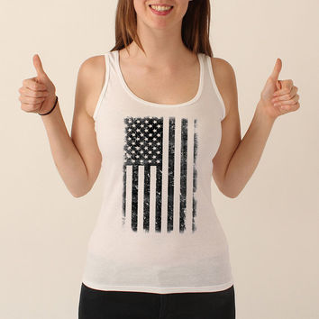 Vintage American Flag | FREE SHIPPING | 4th of July | Tank | America | Woman's Tank Top | S-XL Available 206