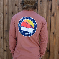 Waters Bluff Horizon Long Sleeve Tee- Copper