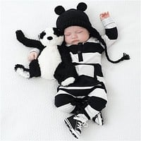 Fashion baby rompers baby boy clothes long sleeve striped printing newborn clothing infant jumpsuit