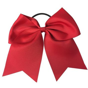 Softball Hair Bow- Red