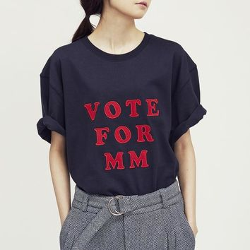 """【87mm】 """"VOTE FOR MM"""" HALF-T 