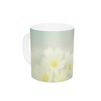 "Monika Strigel ""Happy Spring"" Yellow Teal Ceramic Coffee Mug"