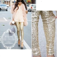 Gold Sequined Pants Fashion KN0116CC