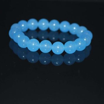Brazilian Aquamarine Gemstone Men's Bracelets