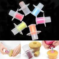 1PC Useful Kitchen Cupcake Muffin Pastry Cake Corer Plunger Cutter Decorating Divider Model