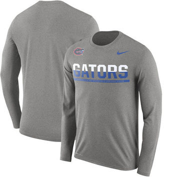 NCAA Florida Gators Men's Nike Staff Sideline Legend Performance Long Sleeve Shirt