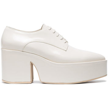 Simone Rocha Cream 90 Leather Creepers - Farfetch
