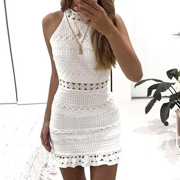 Libertine White High-Neck Dress
