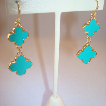 Tory Burch Inspired Clover Earrings