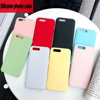 Original With Logo Silicone Case For iPhone 7 Plus Case For iPho 4d04053f1