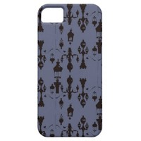 Parisian Streetlamp Damask Case iPhone 5 Cases