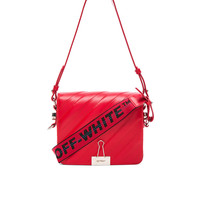 OFF-WHITE Diagonal Padded Flap Bag in Red | FWRD