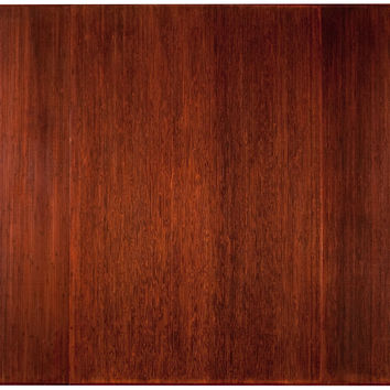 "Bamboo Dark Cherry Tri-Fold Plush Chairmat, 47"" x 60"", no lip"