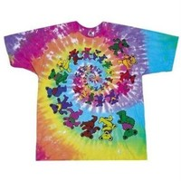 Grateful Dead Spiral Bears T-Shirt, Medium