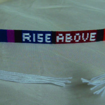 "OOAK African Woven Friendship Bracelet- ""Rainbow"" Custom Order Your Colors, Lenght and Name Cotton Threads"