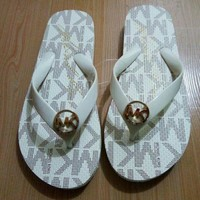 Gotopfashion MK MICHAEL KORS Fashion Beach Slipper Sandals Shoes